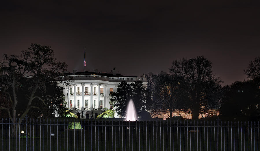 White House At Christmas Photograph  - White House At Christmas Fine Art Print