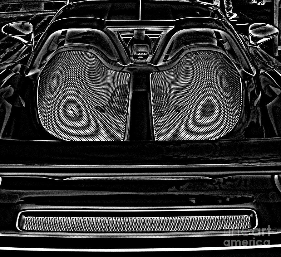 White Porsche  Photograph