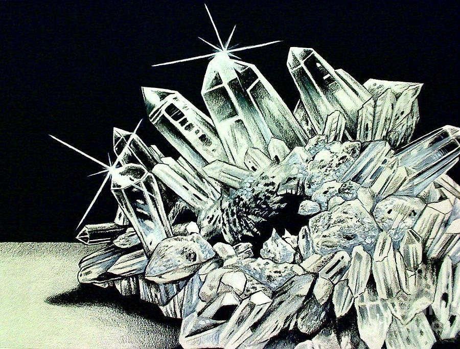 White Quartz Crystal DrawingQuartz Crystals Drawing