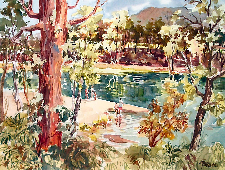 White River Days Painting