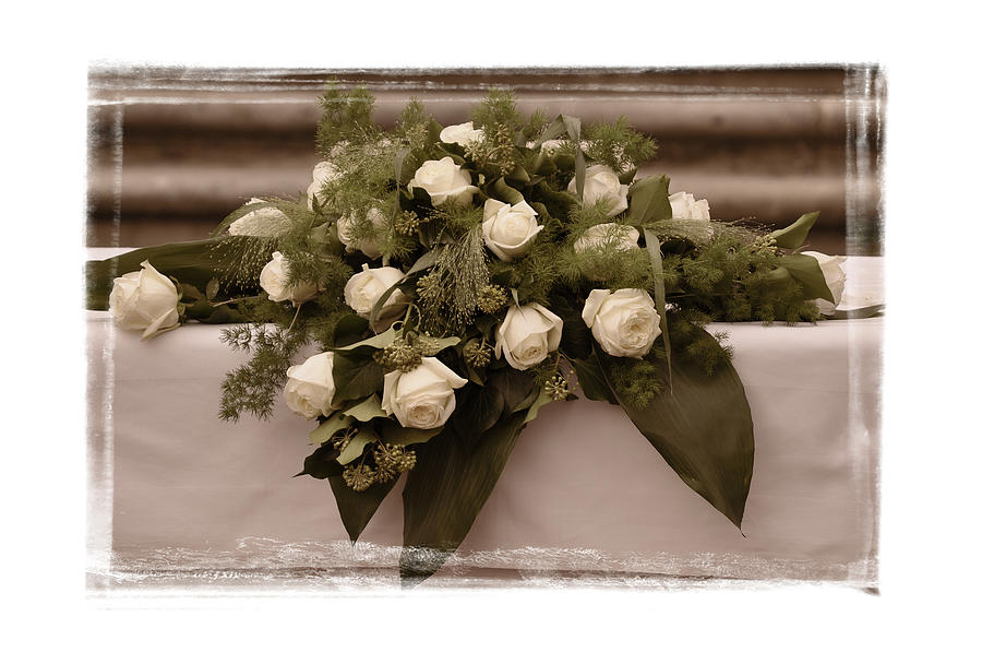 White Roses For The Wedding Photograph