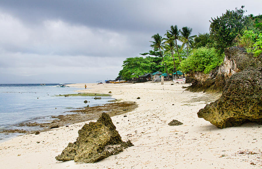 White Sand Beach Moal Boel Philippines Photograph