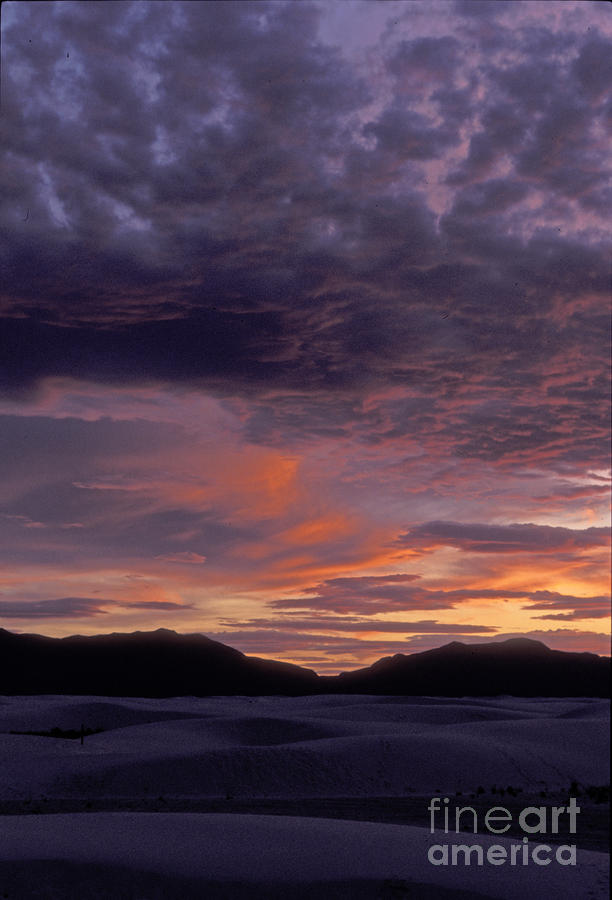 White Sands Sunset Photograph