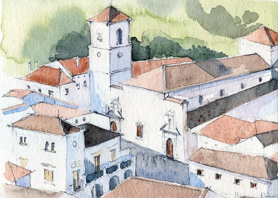 White Village Painting  - White Village Fine Art Print