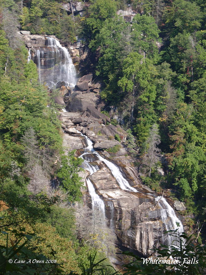 White Water Falls Nc Photograph
