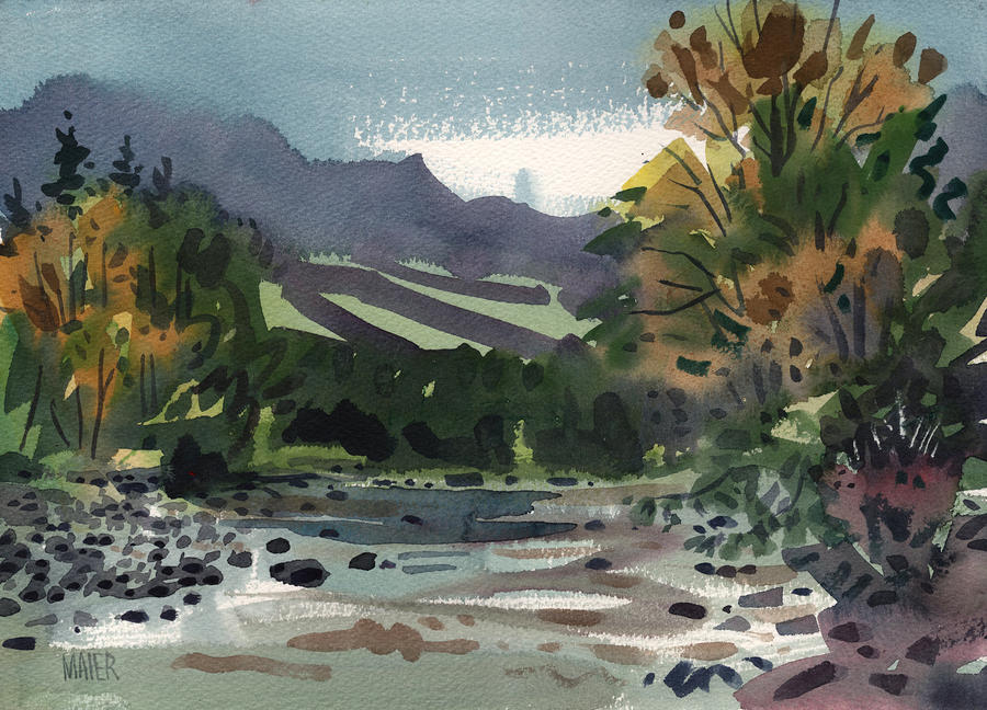 White Water On The White River Painting