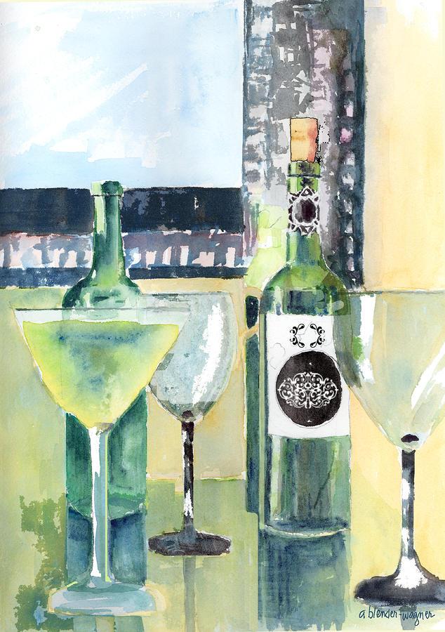 White Wine Painting