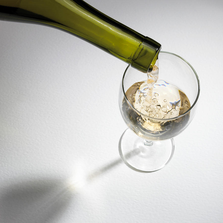 White Wine Photograph  - White Wine Fine Art Print
