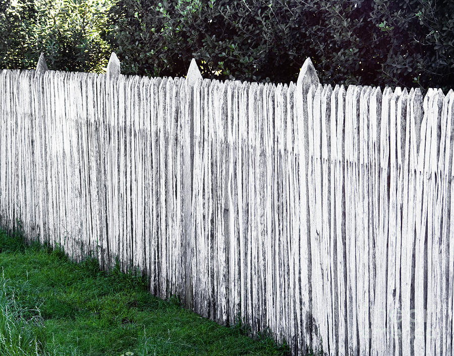 White Wooden Picket Fe...