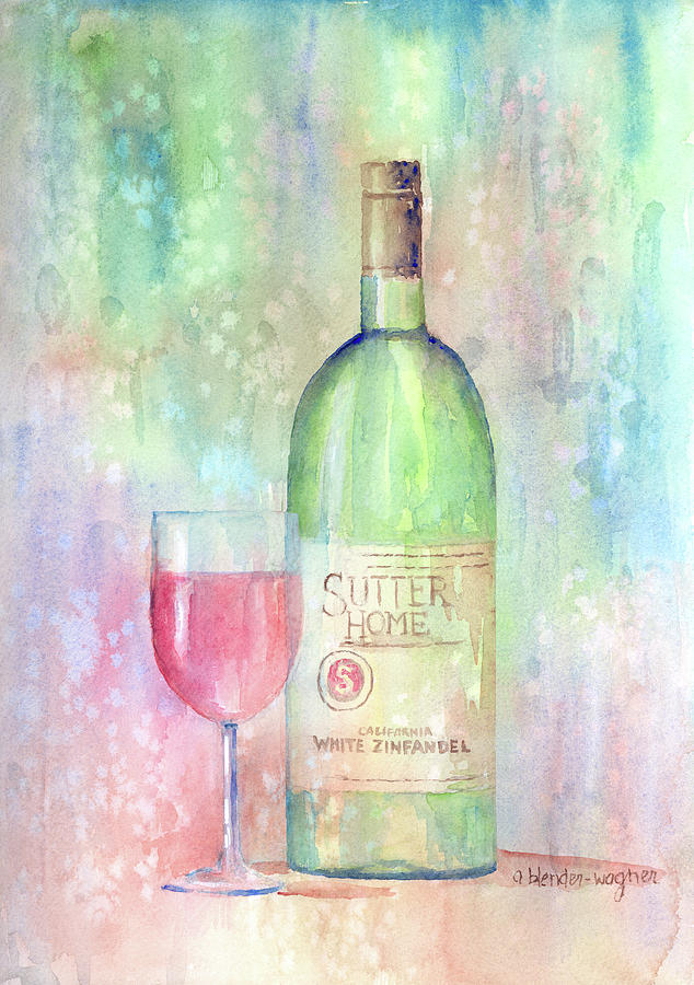 White Zinfandel Painting