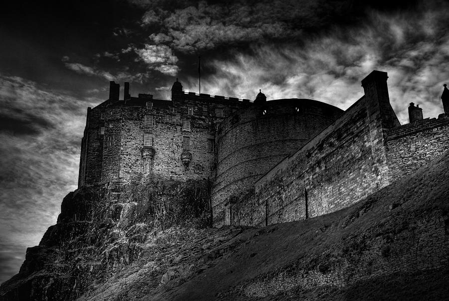 Edinburgh Castle Painting - Who You Guna Call?.... by John Chivers