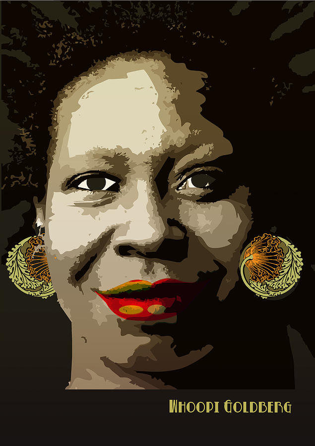 Whoopi Goldberg Digital Art  - Whoopi Goldberg Fine Art Print