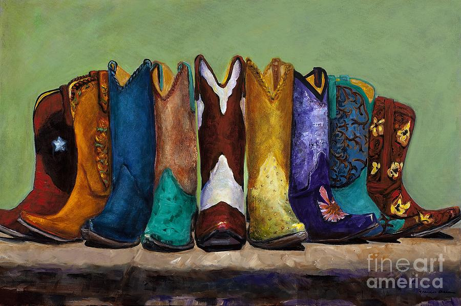 Why Real Men Want To Be Cowboys Painting  - Why Real Men Want To Be Cowboys Fine Art Print