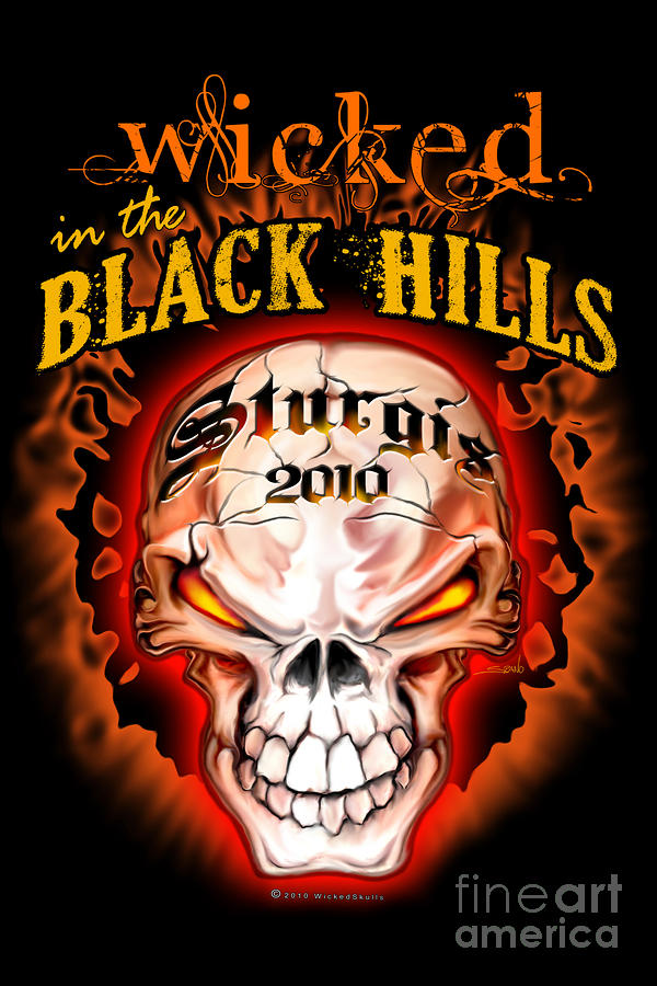 Wicked In The Black Hills - Sturgis 2010 Painting
