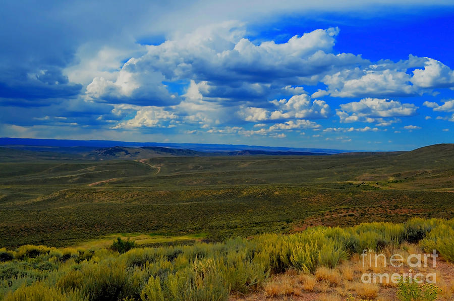 Wide Open Wyoming Sky Photograph  - Wide Open Wyoming Sky Fine Art Print