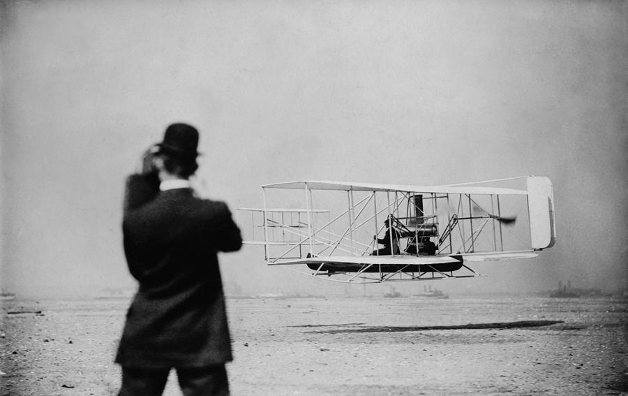 Wilbur Wright 1867-1912 Takes Photograph  - Wilbur Wright 1867-1912 Takes Fine Art Print