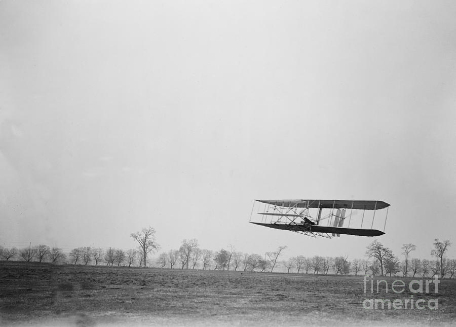Wilbur Wright Piloting Wright Flyer II Photograph