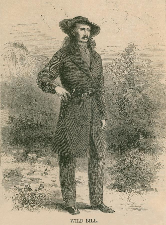 Wild Bill Hickok 1837-1876, Portrait Photograph  - Wild Bill Hickok 1837-1876, Portrait Fine Art Print