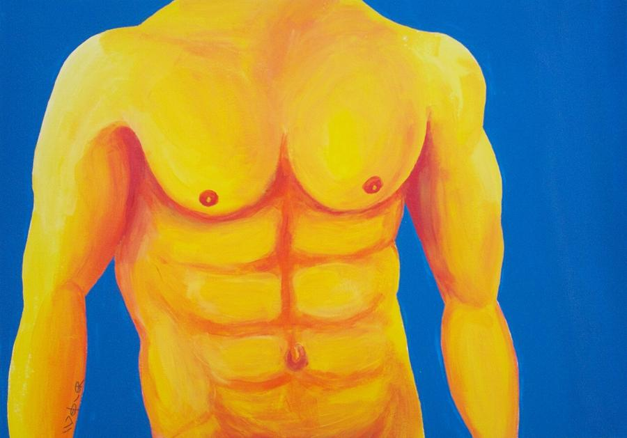 Male Nude Painting - Wild Blue Yonder by Randall Weidner