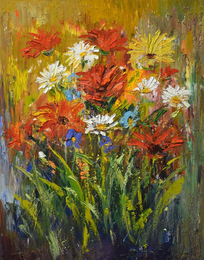 Wild Daisies Painting