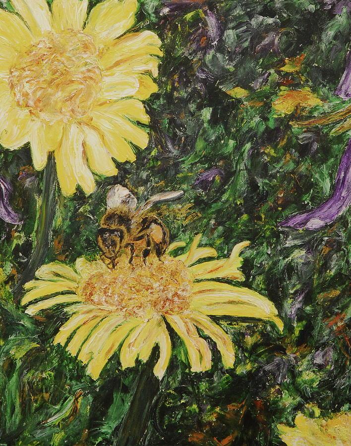 Wild Daisy Painting