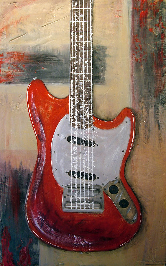 Fender Painting - Wild Horse by Fred Szabries