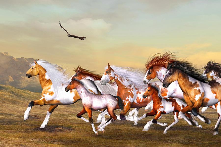 Wild Horses Herd by Simone Gatterwe