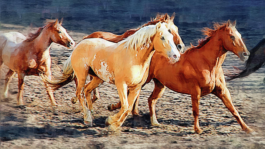 Wild Horses Running by Clarence Alford