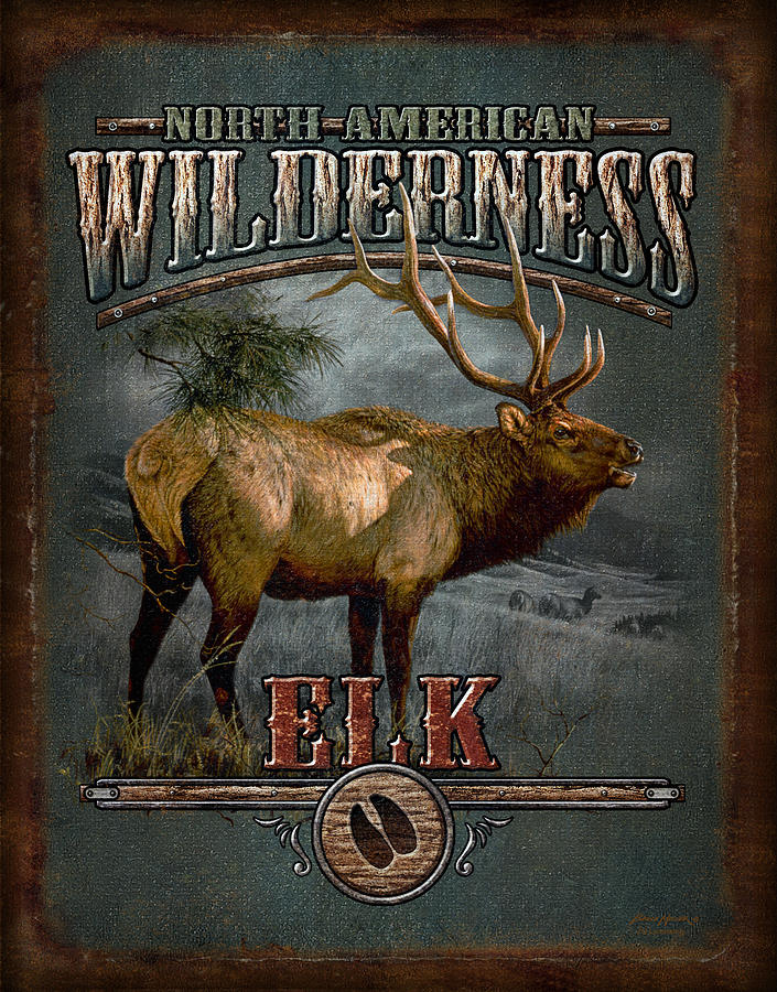 Wilderness Elk Painting