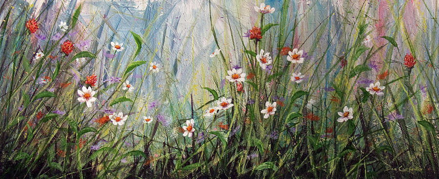 Wildflowers Painting  - Wildflowers Fine Art Print