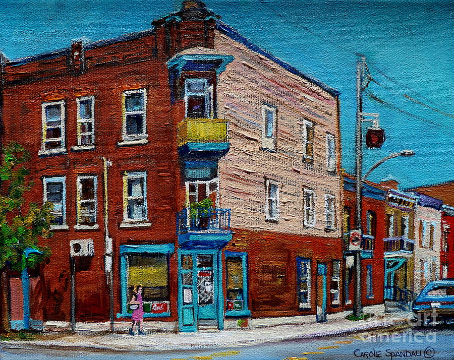 Wilenskys Light Lunch Plateau Montreal Painting
