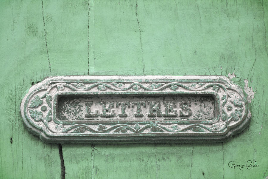 Will You Write - Jade Green Letter Box Photograph