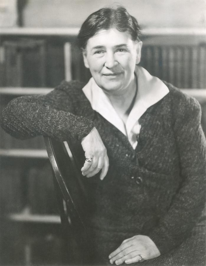 Willa Cather At The Time She Wrote Lucy Photograph  - Willa Cather At The Time She Wrote Lucy Fine Art Print