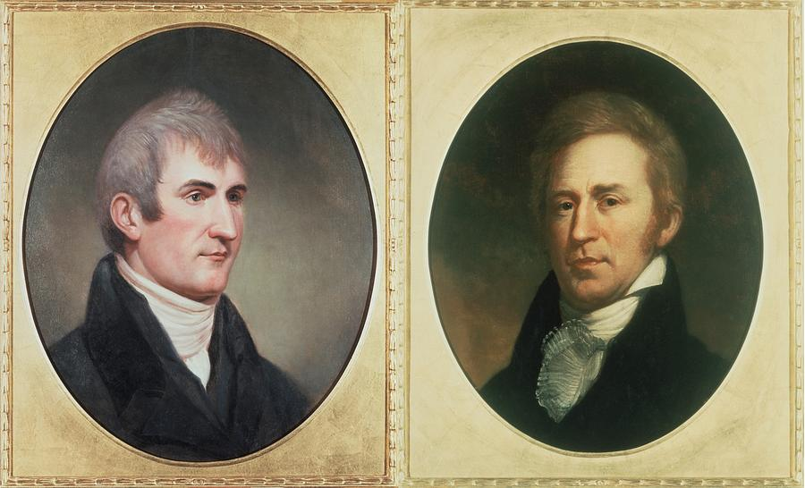 William Clark 1770-1838 And Meriwether Photograph  - William Clark 1770-1838 And Meriwether Fine Art Print