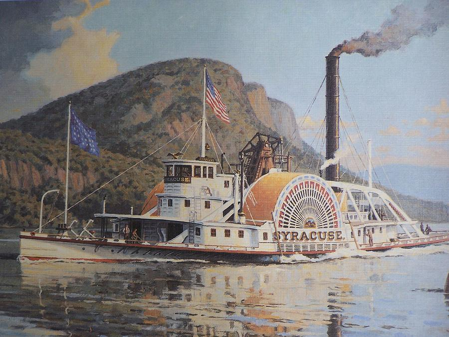 William G Muller Lithograph Towboat Syracuse  Photograph