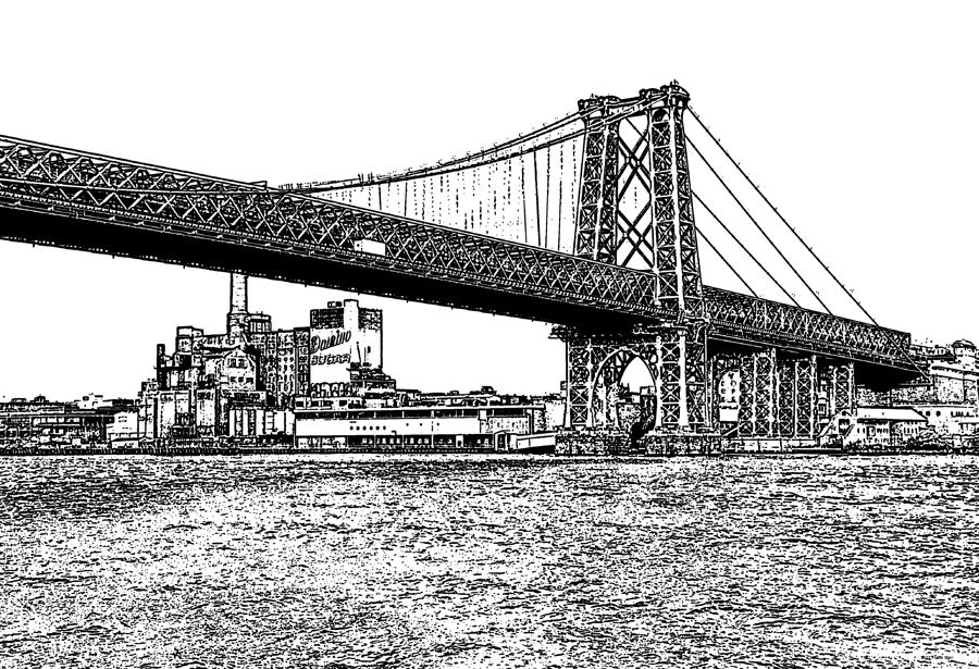 Williamsburg Bridge 1.1 - New York Photograph  - Williamsburg Bridge 1.1 - New York Fine Art Print