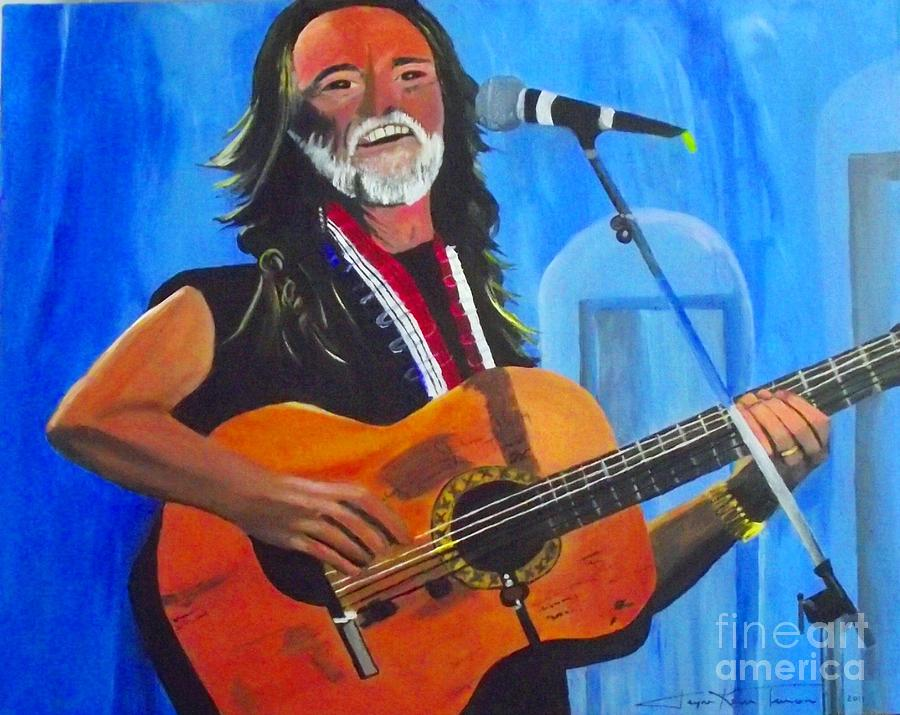 Gifts Painting - Willie Nelson by Jayne Kerr