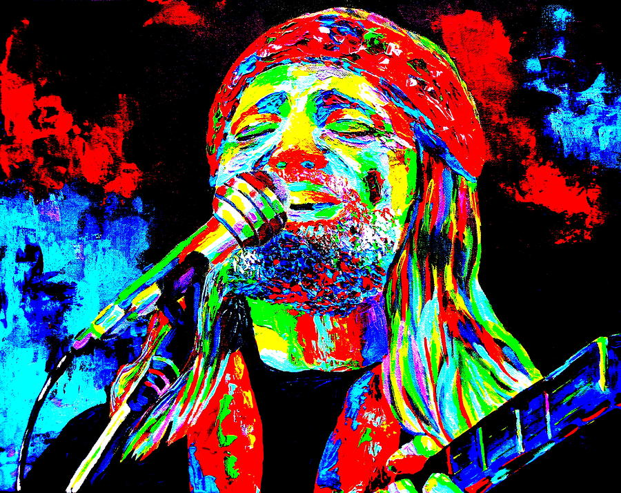Willie Nelson Painting  - Willie Nelson Fine Art Print