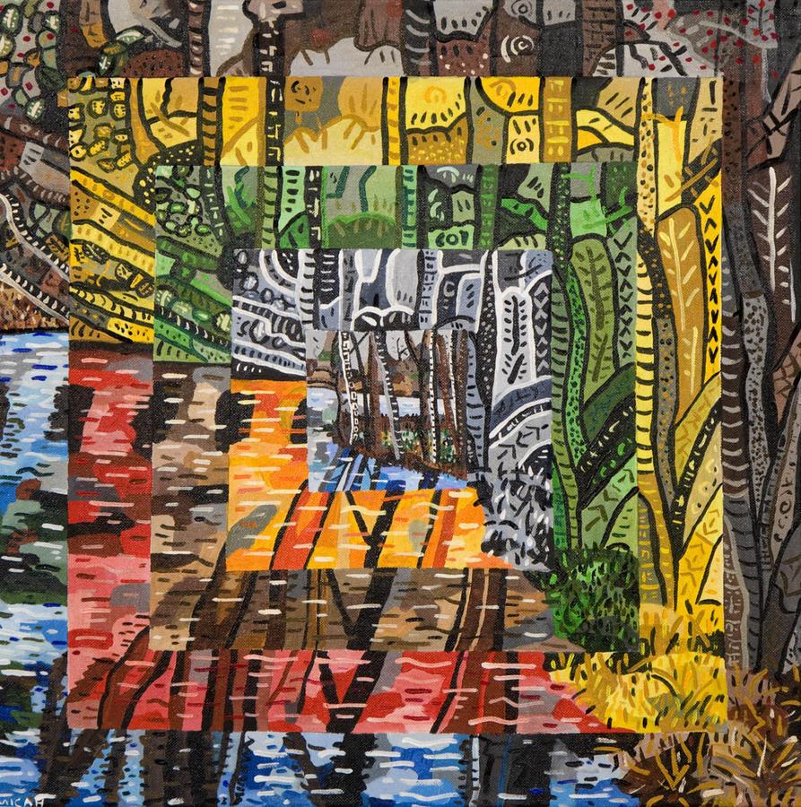 Willow Lake Painting