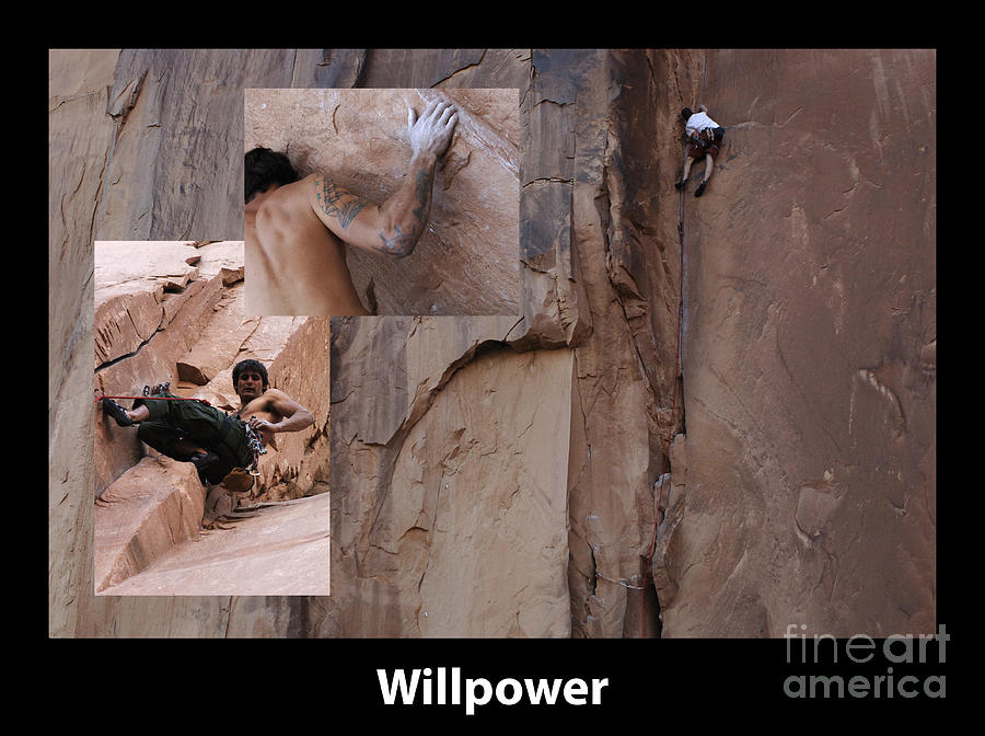 Willpower With Caption Photograph  - Willpower With Caption Fine Art Print