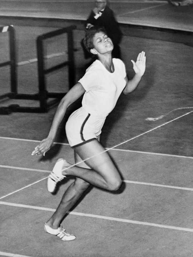 Wilma Rudolph Sets A World Record Photograph  - Wilma Rudolph Sets A World Record Fine Art Print