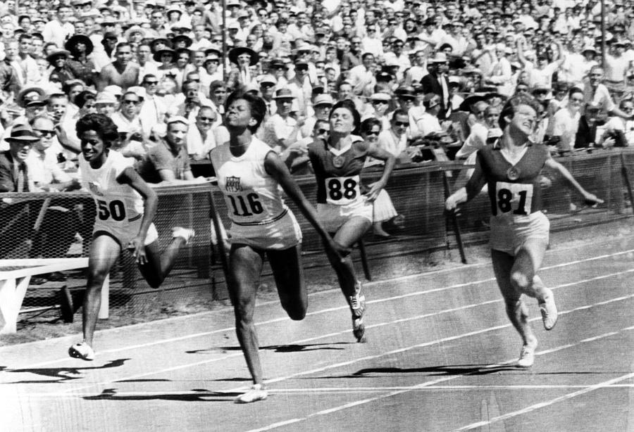 Wilma Rudolph, Winning The Womens Photograph  - Wilma Rudolph, Winning The Womens Fine Art Print