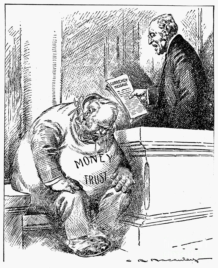 Wilson Cartoon, 1913 Photograph  - Wilson Cartoon, 1913 Fine Art Print
