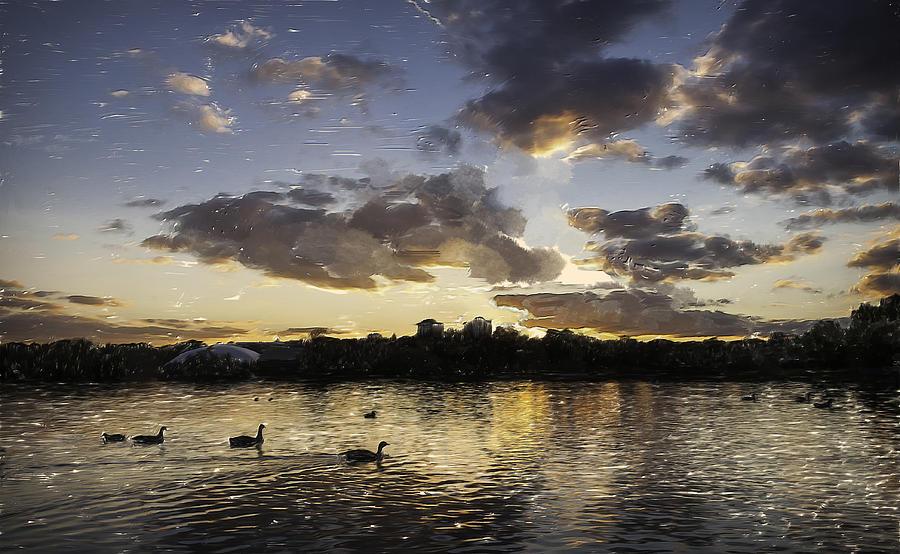 Wimbledon Sunset Digital Art