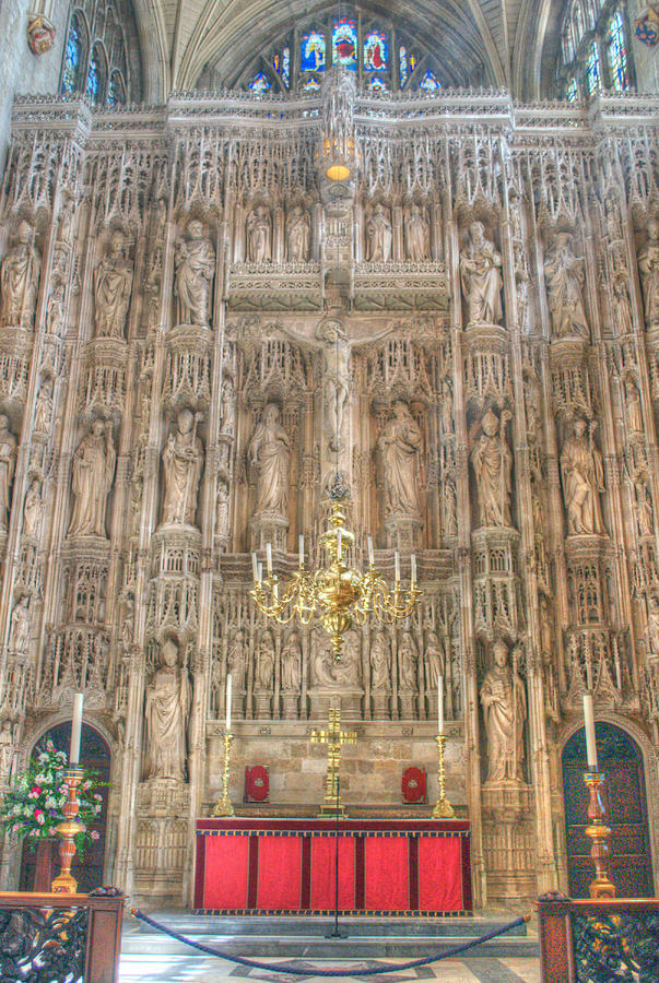 Winchester Cathedral High Altar Photograph  - Winchester Cathedral High Altar Fine Art Print