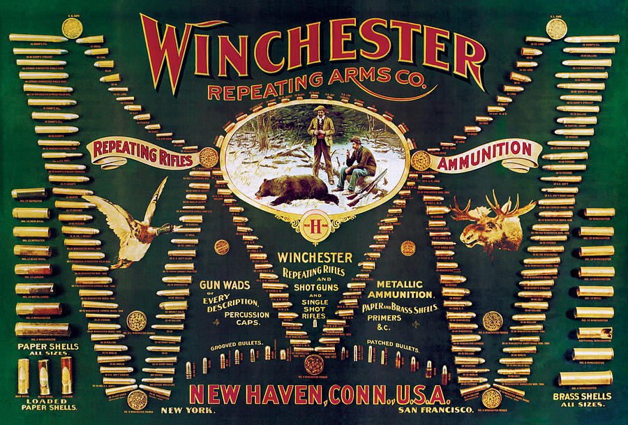Winchester Double W Cartridge Board Painting