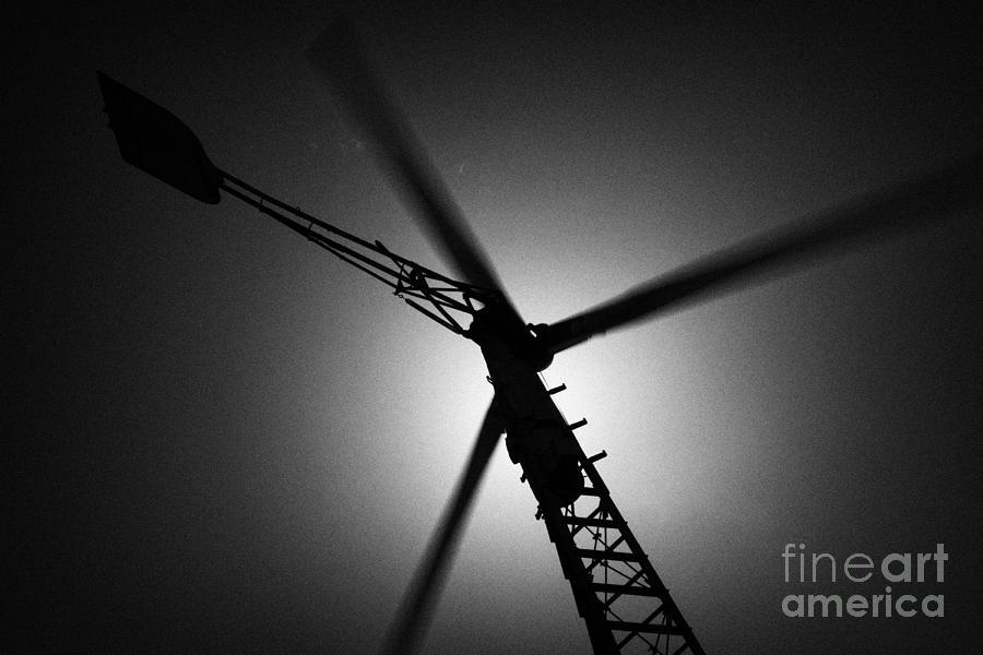 Wind Turbine Blades Spinning Photograph