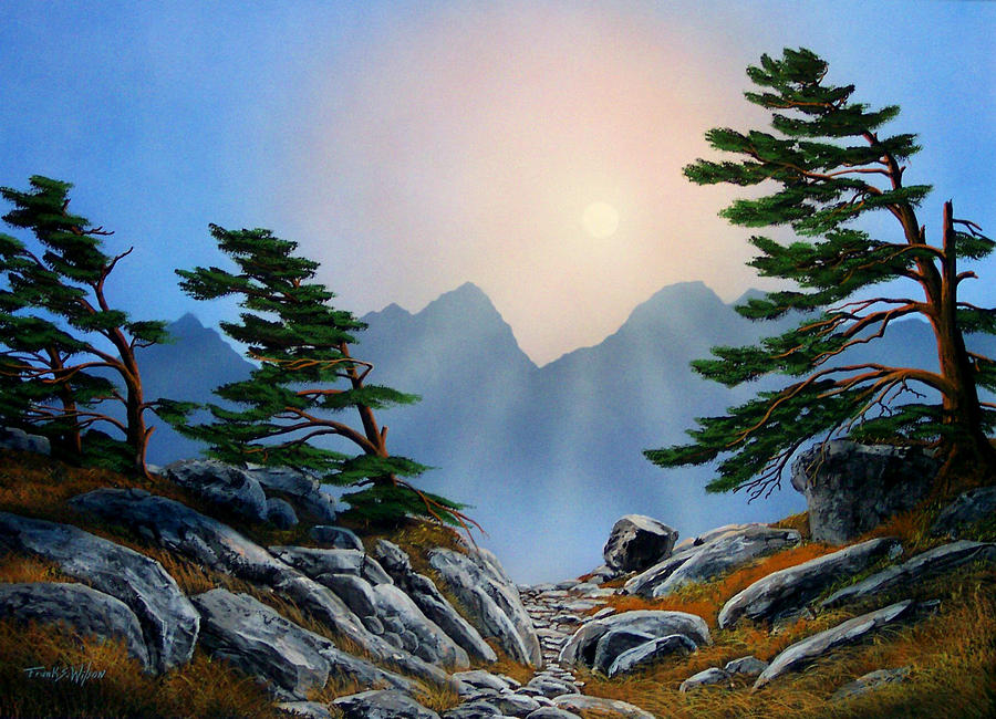 Windblown Pines Painting  - Windblown Pines Fine Art Print