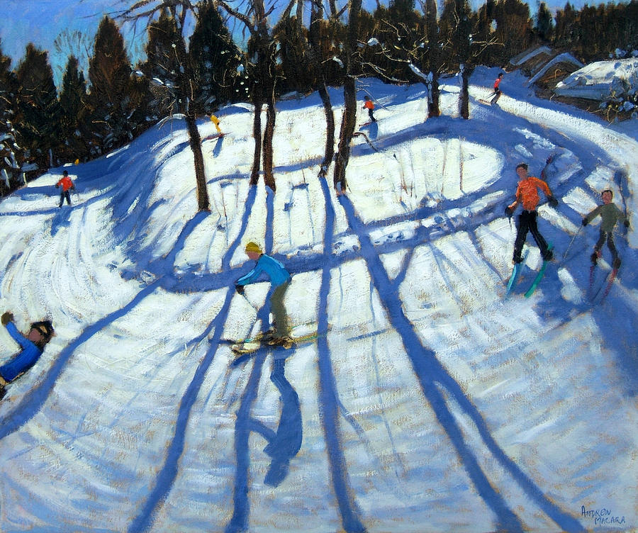 Winding Trail Morzine Painting