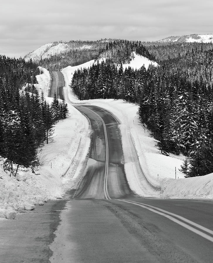 Vertical Photograph - Winding Winter Roads by Peter Bowers